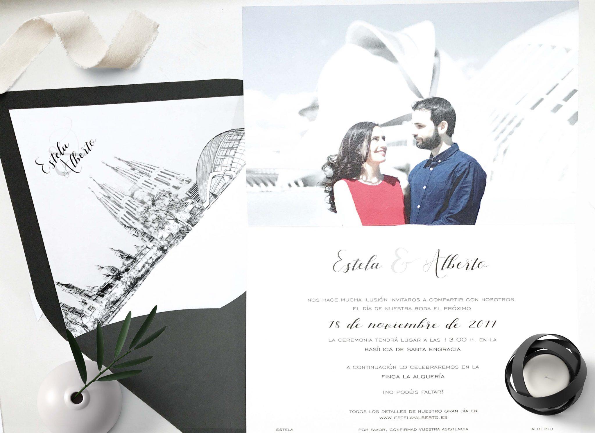 Invitacion de boda original que enamora el blog de martina - Invitacion de boda original ...